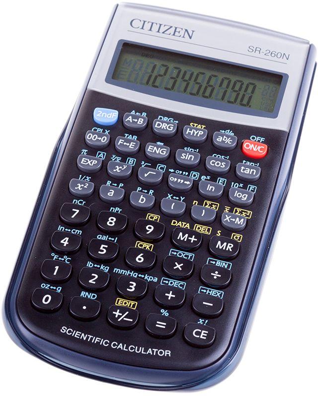 купить Citizen Инженерный калькулятор SR-260N цвет черный по цене 691 рублей