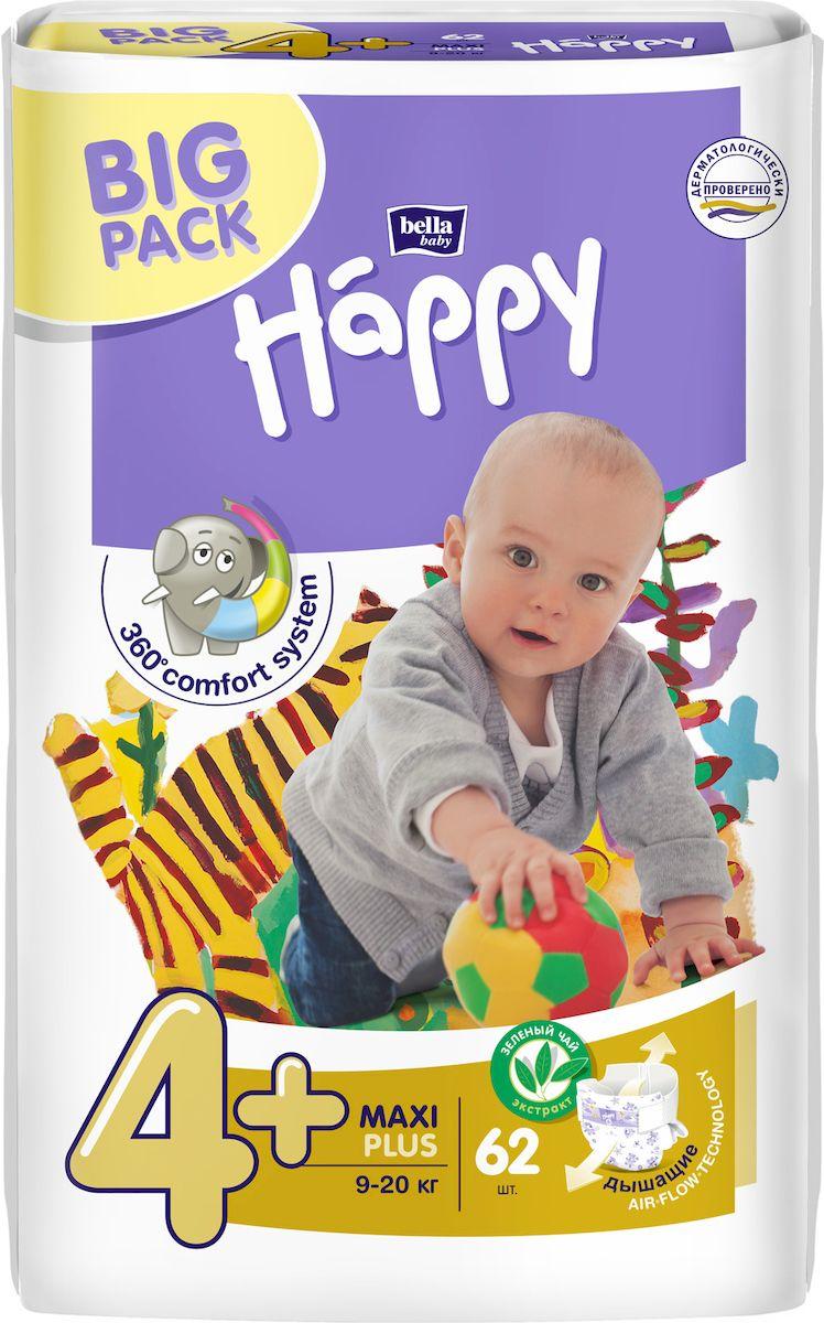 цены на Bella baby Happy Подгузники, 9-20 кг, 62 шт  в интернет-магазинах
