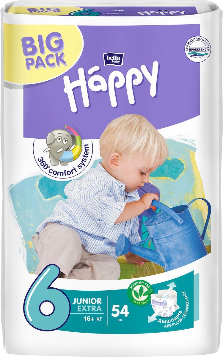 цены на Подгузники Bella baby Happy Junior Extra 6, 16+ кг, 54 шт  в интернет-магазинах