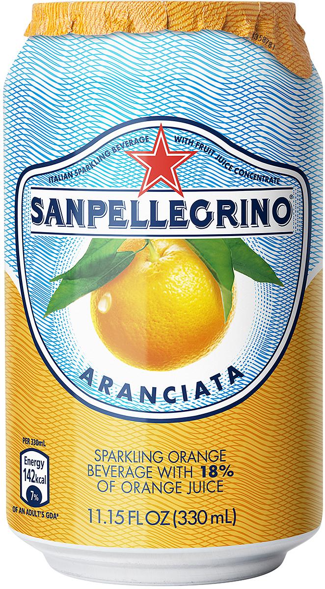 S.Pellegrino напиток среднегазированный сокосодержащий апельсиновый, 0,33 л безалкогольный напиток среднегазированный аскания лайм мята 12 шт по 0 5 л