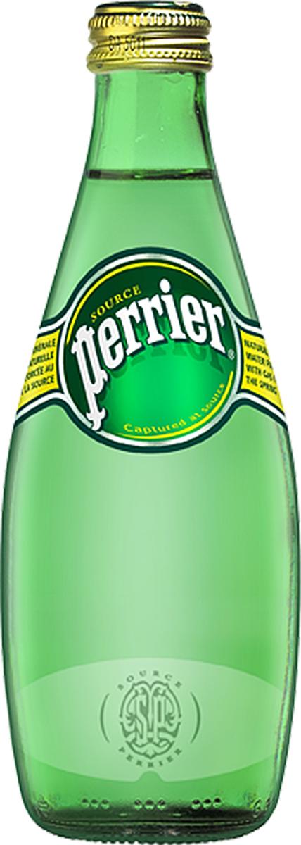 Perrier минеральная газированная вода, 0,33 л