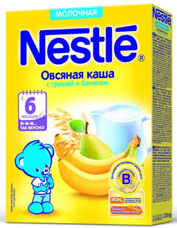 Nestle Овсяная Груша Банан каша молочная, 220 г