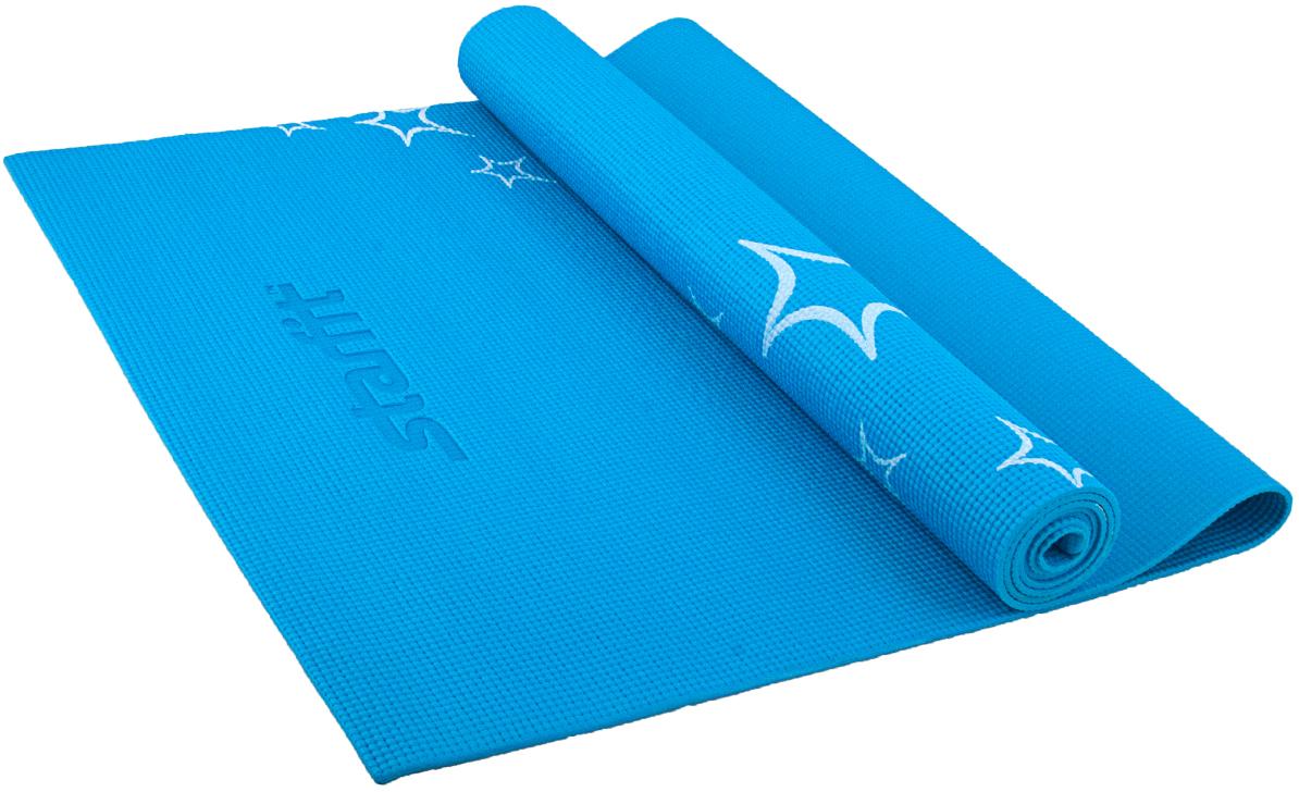 """Коврик для йоги Starfit """"FM-102"""", цвет: синий, 173 х 61 х 0,5 см"""
