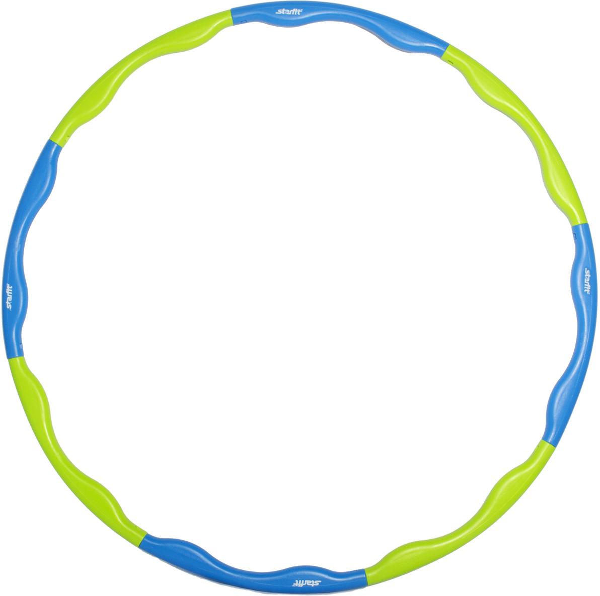 Фото - Обруч массажный Star Fit, разборный, цвет: синий, салатовый, диаметр 90 см обруч гимнастический starfit обруч массажный hh 106 разборный 98 см