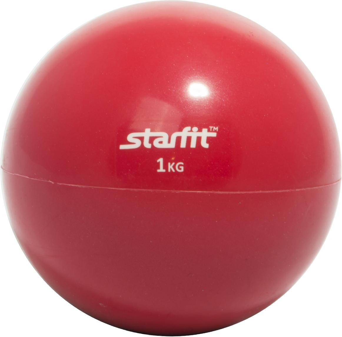 Медбол <b>STARFIT GB</b>-<b>703</b>, 1 кг, красный 1/10 — купить в интернет ...