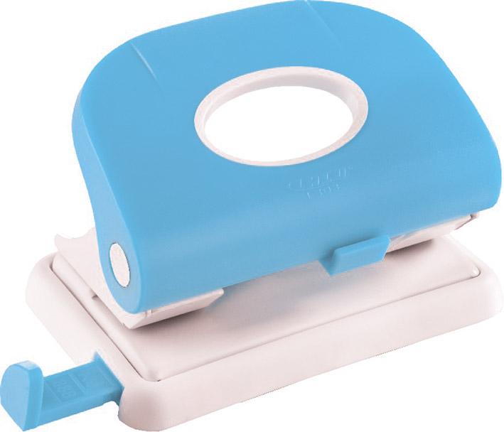 Laco Дырокол L 303 с выдвижной линейкой цвет голубой дырокол толщина прокола до 15 листов с линейкой пластиковый корпус ассорти