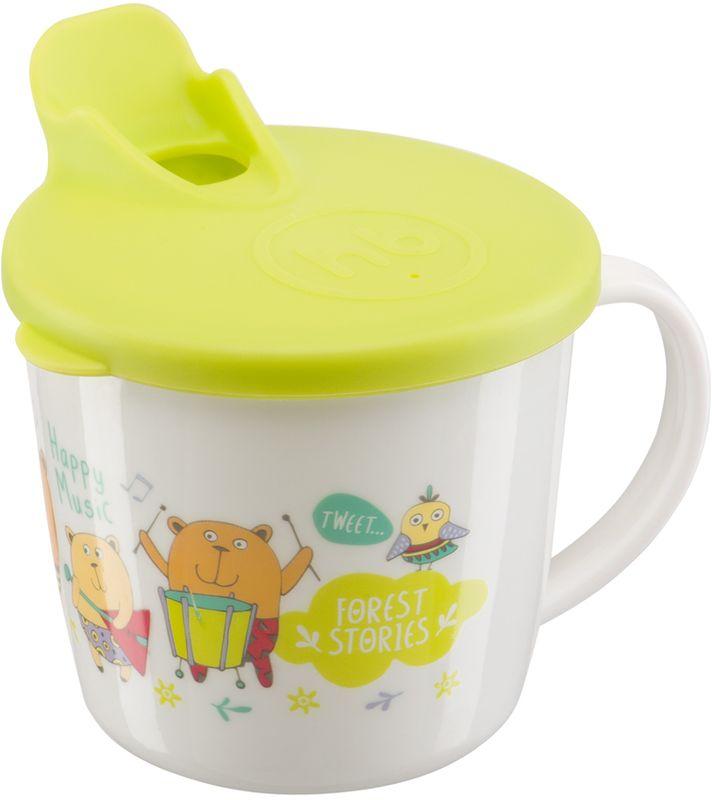 Happy Baby Кружка с крышкой 15010 LIME набор для кормления детей happy baby anti colic baby bottle 10009 lime