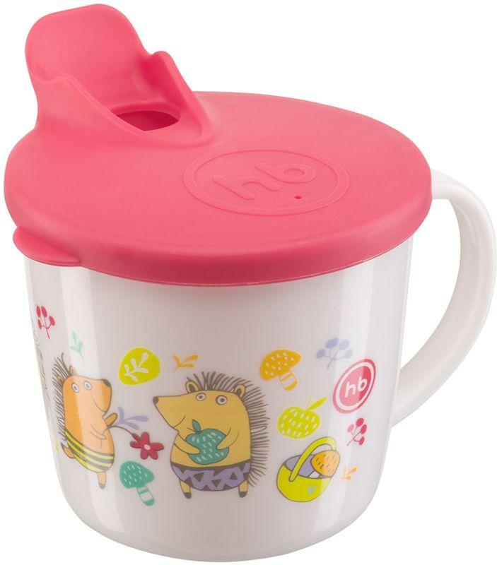 кружка на присоске happy baby baby cup with suction base 15022 red Happy Baby Кружка с крышкой 15010 RED