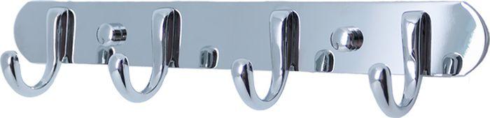 Планка для ванной Fixsen, с 4 крючками, цвет: хром. FX-1714 планка 4 крючка fixsen hotel хром fx 31005 4