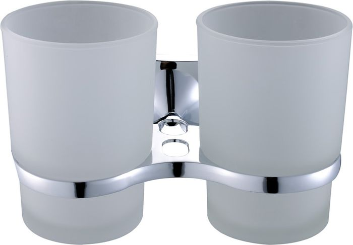 Подстаканник для ванной Grampus Ocean, двойной, цвет: хром бумагодержатель grampus oceangr 2010