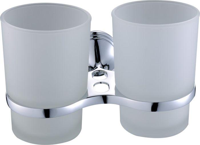 Подстаканник для ванной Grampus Laguna, двойной, цвет: хром бумагодержатель grampus oceangr 2010
