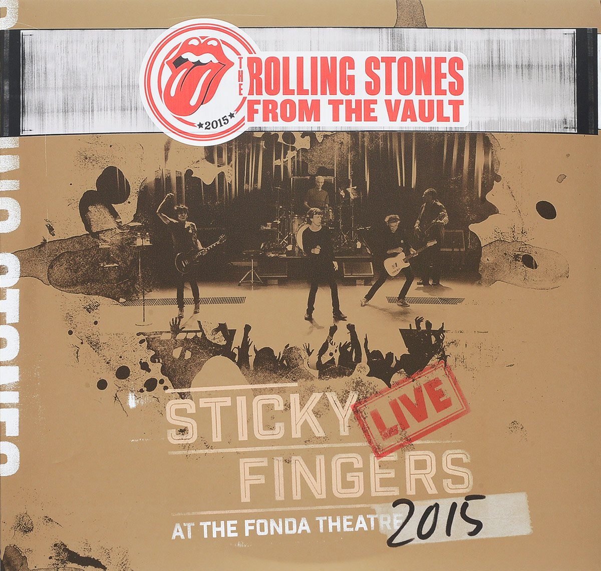 The Rolling Stones The Rolling Stones. Sticky Fingers - Live At The Fonda Theatre 2015 (2 LP + DVD) rolling stones the from the vault live in leeds 1982 dvd 2 cd