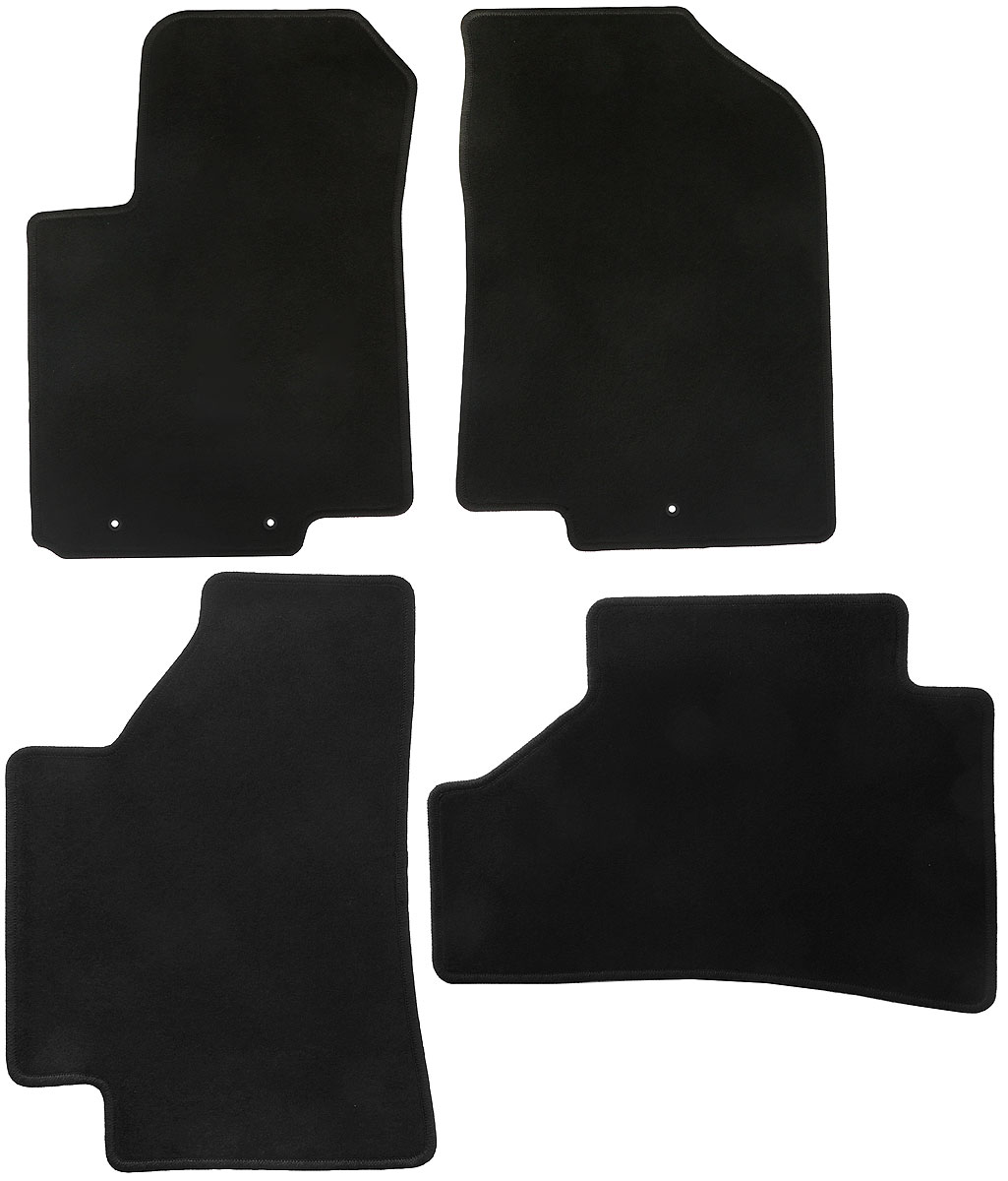 Набор автомобильных ковриков Klever для Hyundai Solaris 2011-, хэтчбек/седан, в салон, 4 шт. KVR01204501200k недорго, оригинальная цена