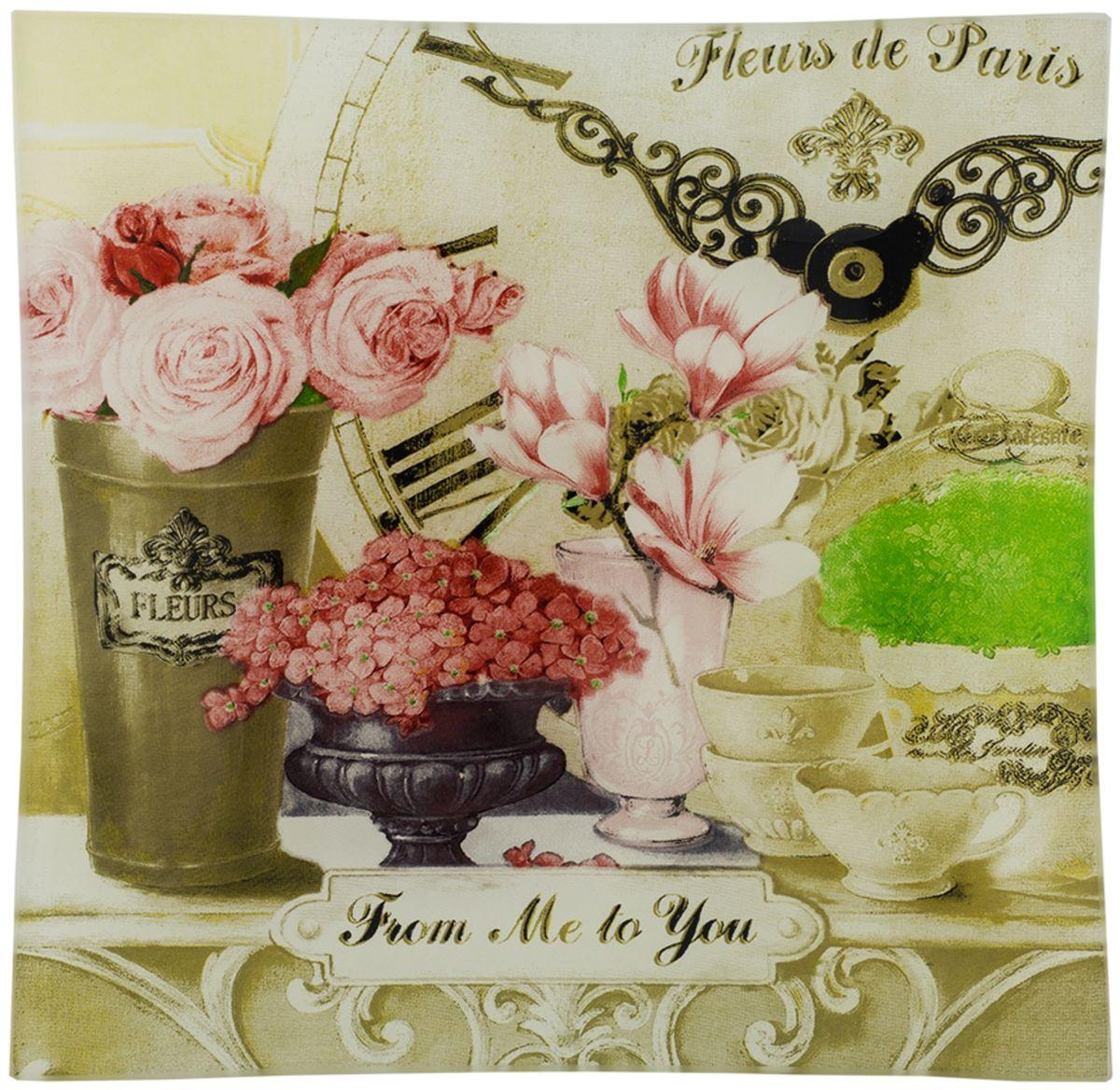 """Пепельница Gift'n'Home """"Парижские цветы"""", диаметр 12 см"""