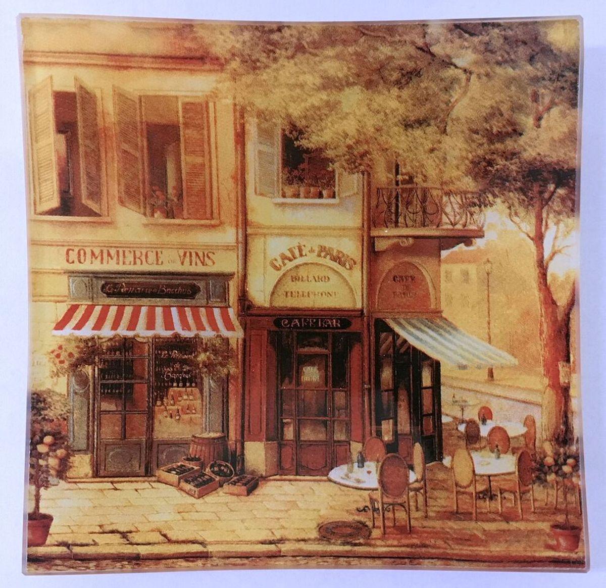 Тарелка Gift'n'Home Парижское кафе, 20 х 20 см цена