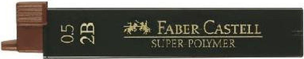 Faber-Castell Грифель для механического карандаша Superpolymer 2B 0,5 мм 12 шт faber castell грифель для карандаша superpolymer h 0 5 мм 12 шт