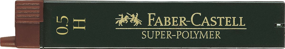 Faber-Castell Грифель для карандаша Superpolymer H 0,5 мм 12 шт cross грифели для механических кассетных карандашей 0 5 мм 12 шт 1 ластик в кассете
