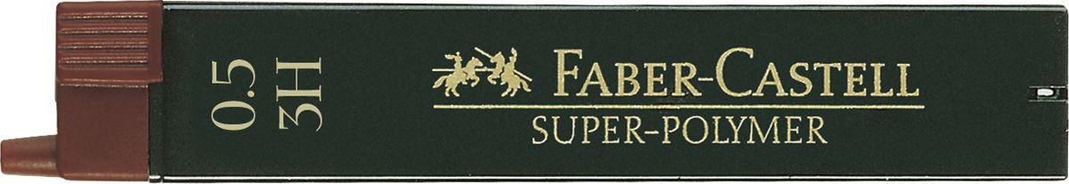 Faber-Castell Грифель для механического карандаша Superpolymer 3H 0,5 мм 12 шт графитные грифели superpolymer 0 5мм твердость hb 12шт