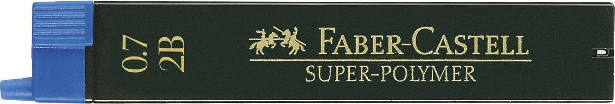 Faber-Castell Грифель для механического карандаша Superpolymer 2B 0,7 мм 12 шт графитные грифели superpolymer 0 5мм твердость hb 12шт
