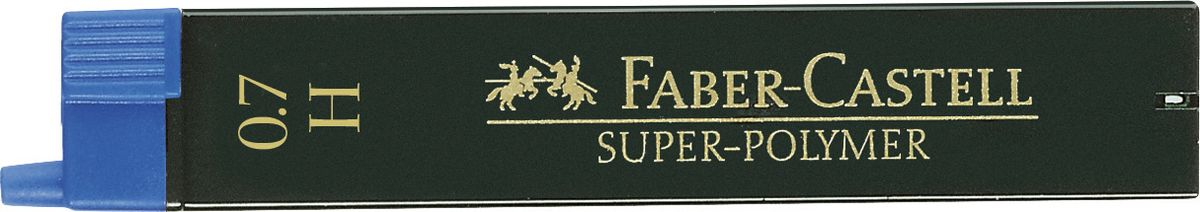 Faber-Castell Грифель для механического карандаша Superpolymer H 0,7 мм 12 шт графитные грифели superpolymer 0 5мм твердость hb 12шт