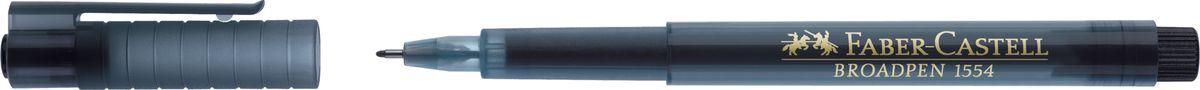 Faber-Castell Ручка капиллярная Broadpen 1554 0,5 мм цвет чернил черный faber castell ручка капиллярная finepen 1511 цвет чернил черный