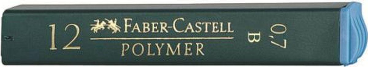 Faber-Castell Грифель для механического карандаша Polymer B 0,7 мм 12 шт faber castell грифель для карандаша superpolymer h 0 5 мм 12 шт