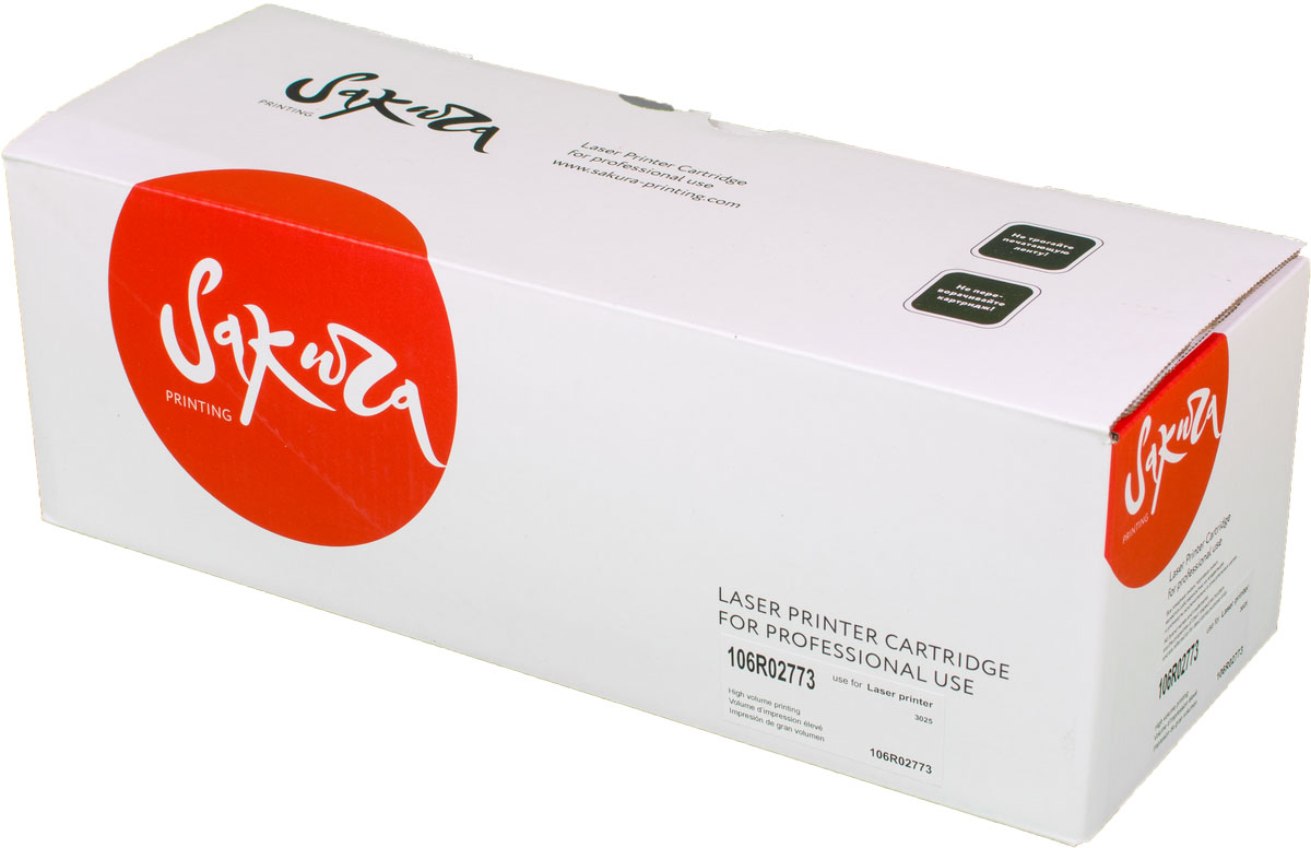 Картридж Sakura 106R02773, черный, для лазерного принтера картридж sakura 006r01179