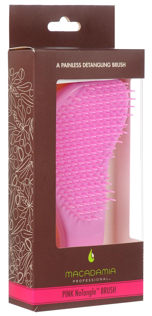 MacadamiaРасческа для распутывания волос, цвет:  розовый Macadamia