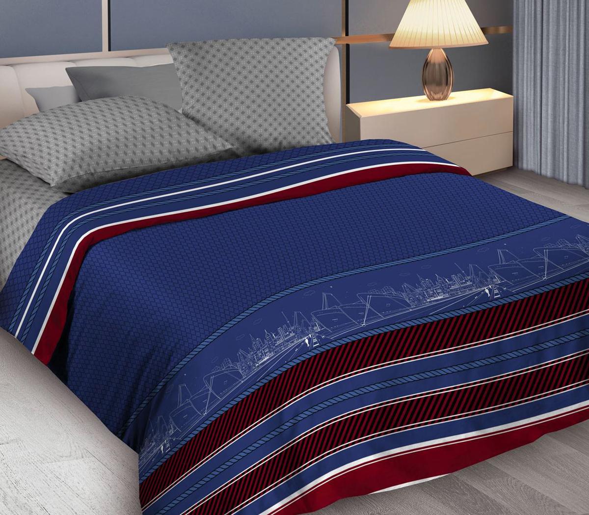 Комплект белья Wenge Belvedere, 2-спальный, наволочки 70x70, цвет: синий постельное белье wenge кпб 2 0 био комфорт wenge 70х70 рис 15158 1 15161 2 gallant