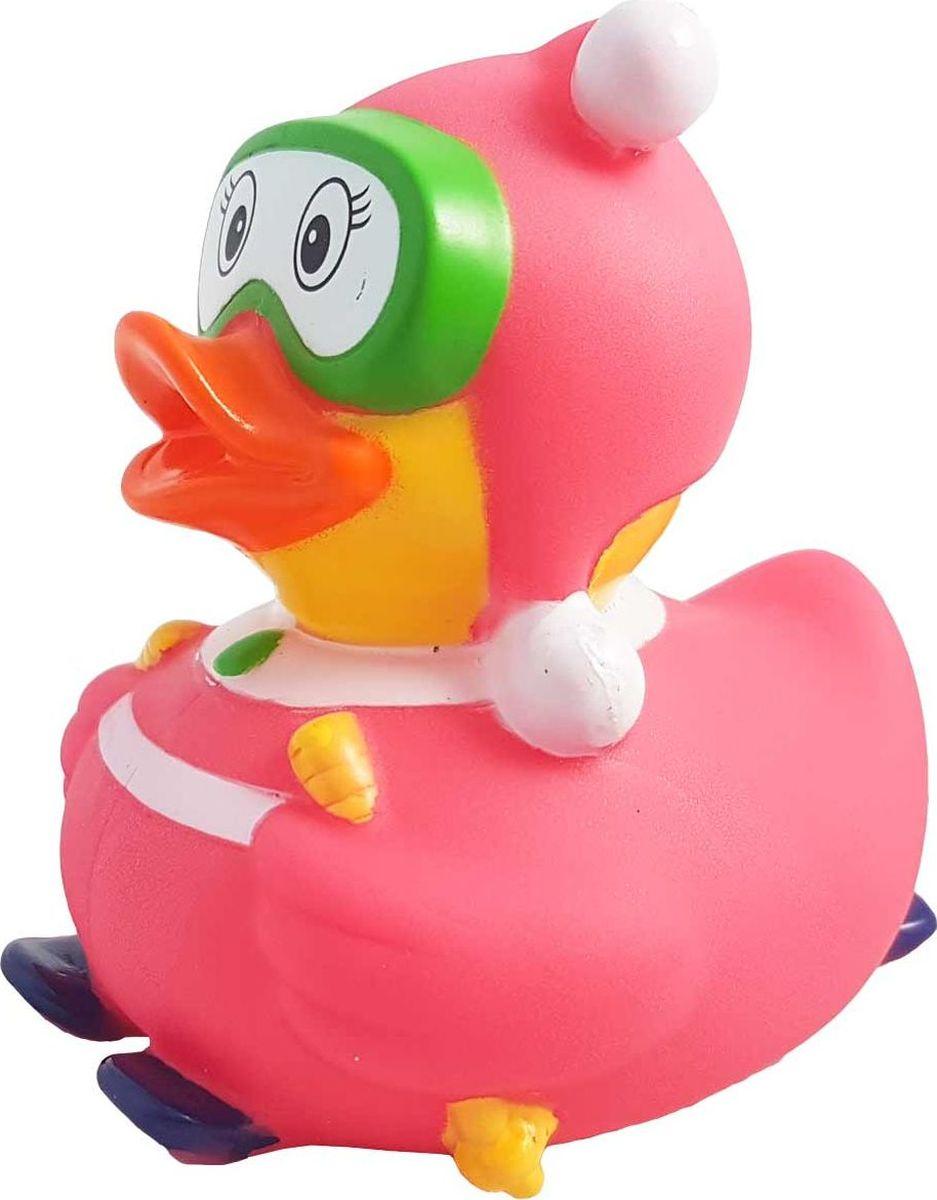 Funny Ducks Игрушка для ванной Уточка Лыжница цвет розовый