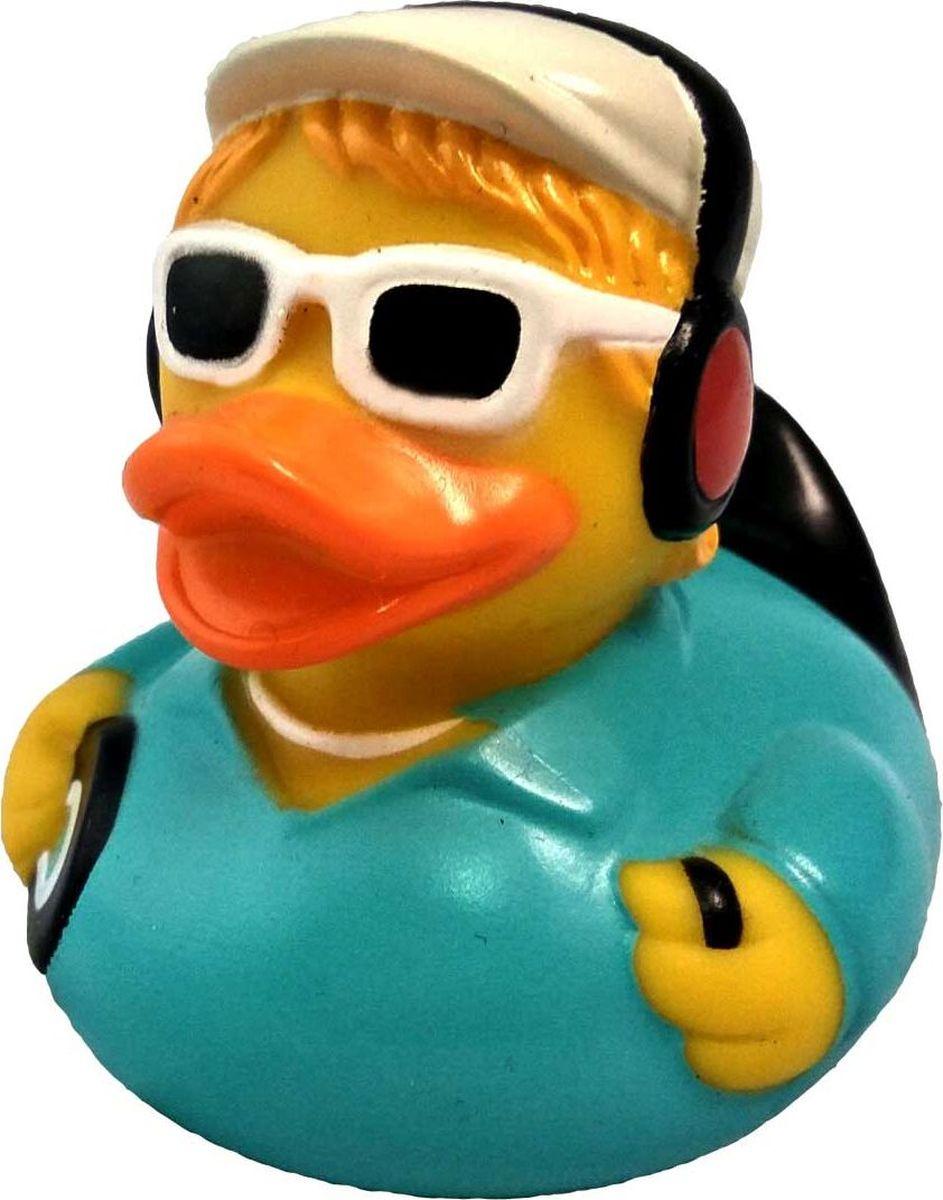 """Игрушка для ванной FUNNY DUCKS """" Диджей уточка"""", цвет :желтый, голубой, белый."""