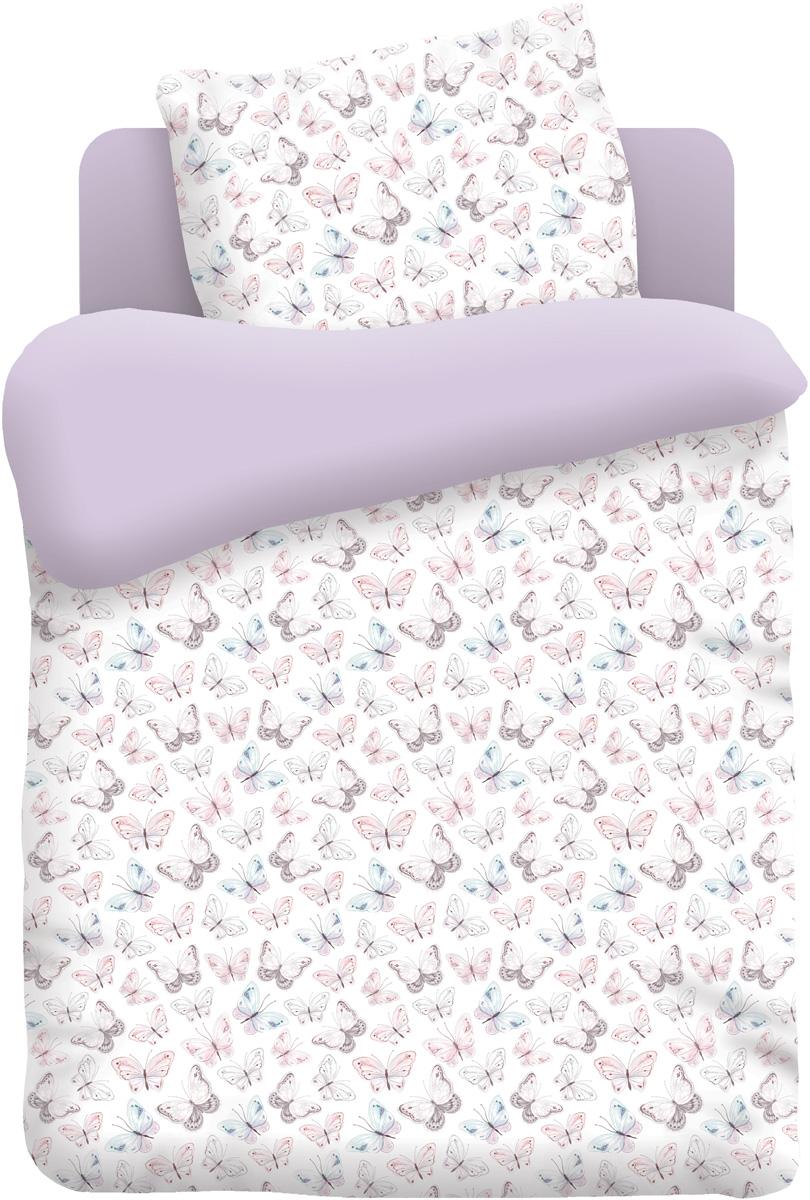 Непоседа Комплект постельного белья в кроватку Бабочки цвет белый 3 предмета