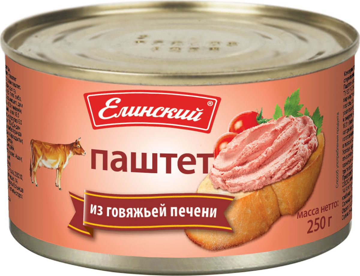 Елинский паштет из говяжьей печени, 250 г цены онлайн
