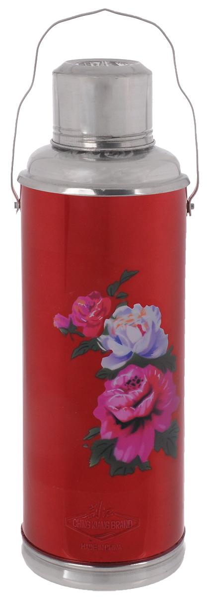 Термос Super Kristal, цвет: красный, фиолетовый, 2 л набор банок на подставке super kristal sk 3810