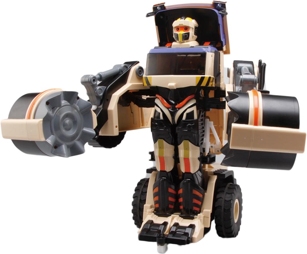 Фото - 1TOY Робот-трансформер на радиоуправлении Строительный каток 1toy кукла 1toy boxy girls бруклин 20 см с аксессуарами