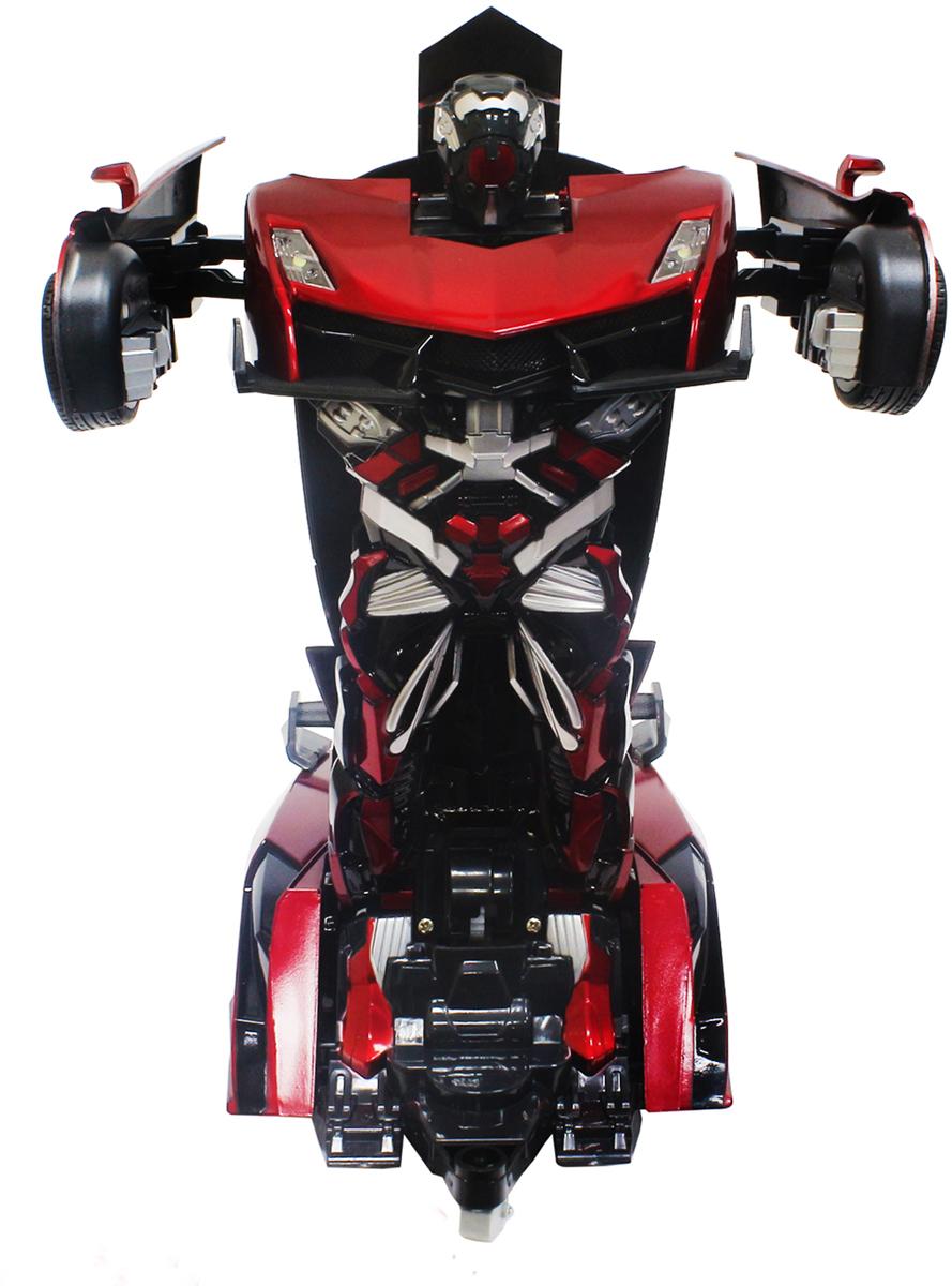 1TOY Робот-трансформер на радиоуправлении Спортивный автомобиль цвет красный