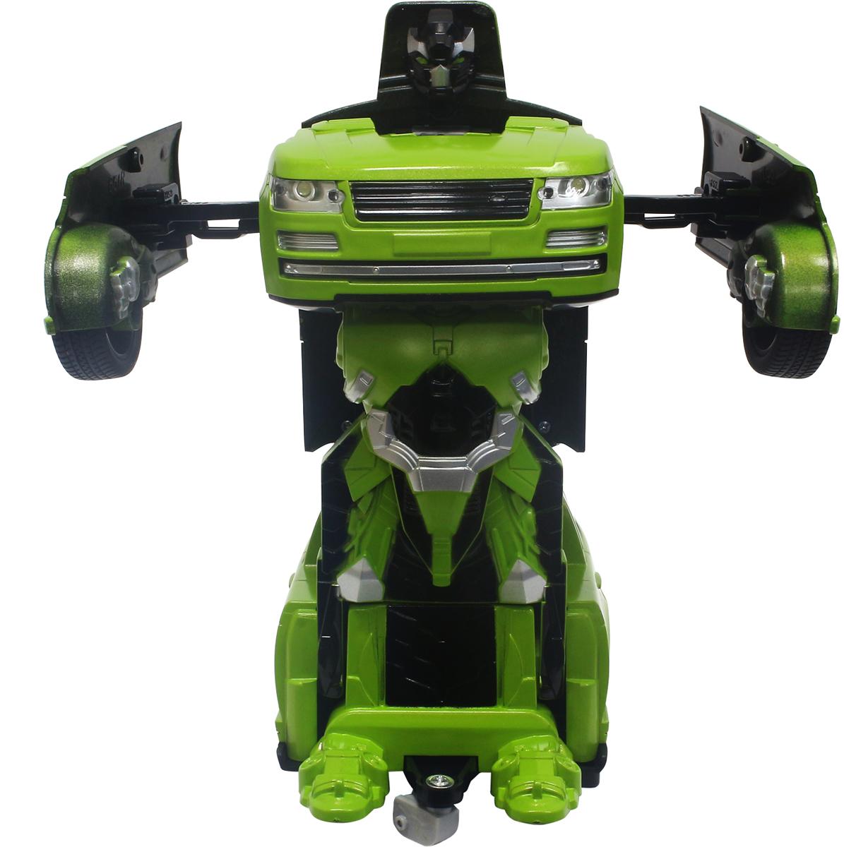 1TOY Робот-трансформер на радиоуправлении Джип цвет зеленый yako робот трансформер цвет желтый зеленый