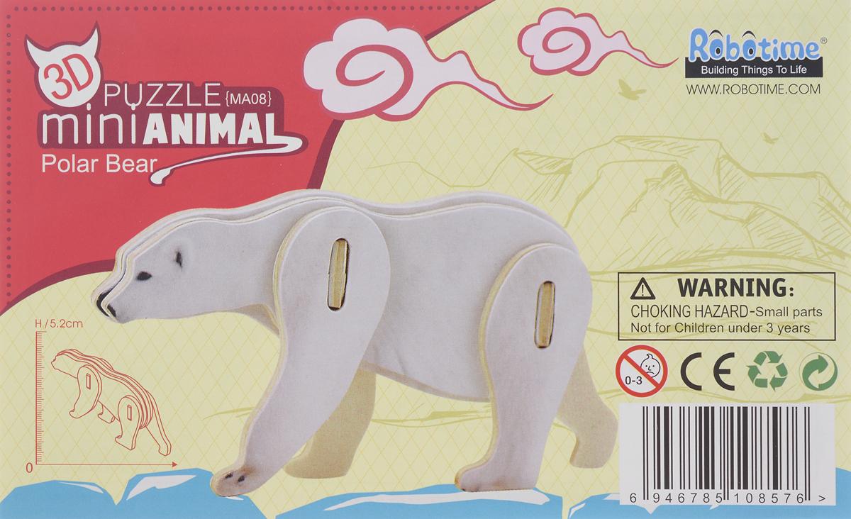 Robotime 3D пазл Белый медведь цена