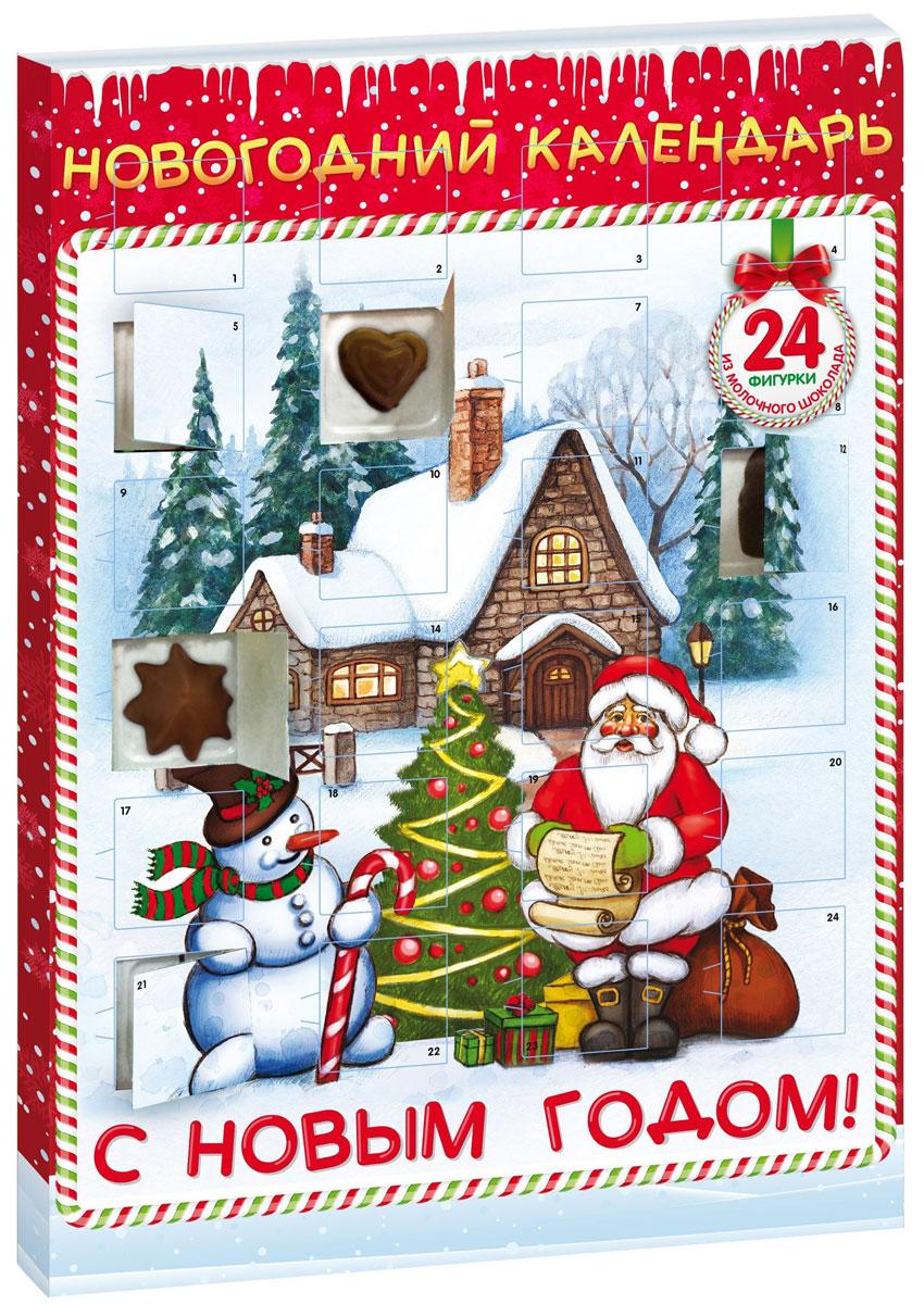 Сладкая Сказка Новогодний календарь Снеговик, 75 г