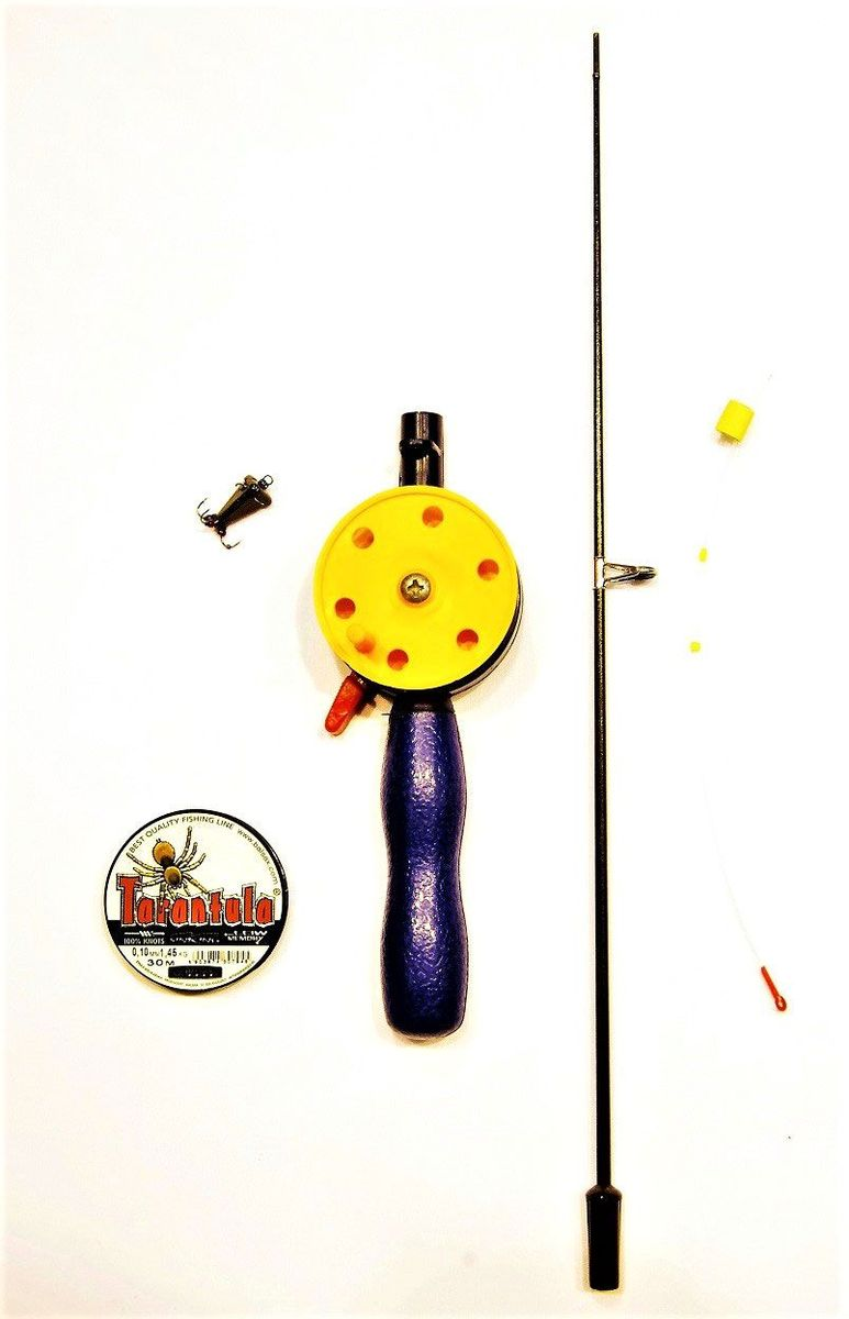 Набор для зимней рыбалки Аляска, для ловли чертиком, 4 предмета набор для летней рыбалки аляска джиг поролон 1 для ловли судака 71 предмет