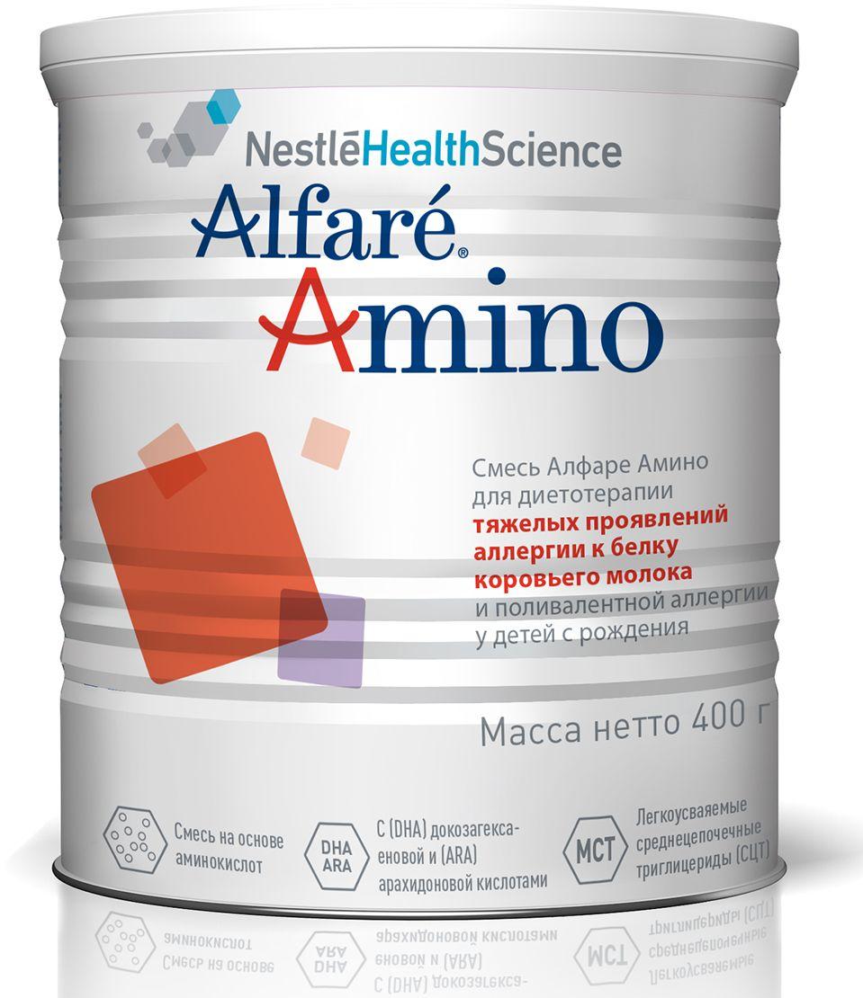 Alfare Amino Смесь на основе аминокислот для детей с рождения с тяжелыми аллергическими реакциями и\или пищевой непереносимостью, 400 г amino liquid 11500 mg