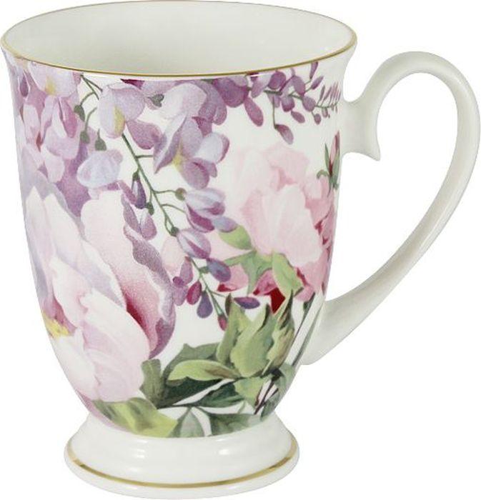 Кружка Anna Lafarg Stechcol Райский сад, 300 мл. AL-17815-B-M-ST чашка с блюдцем anna lafarg stechcol лаура сиреневые цветы al 17821 f bcs st