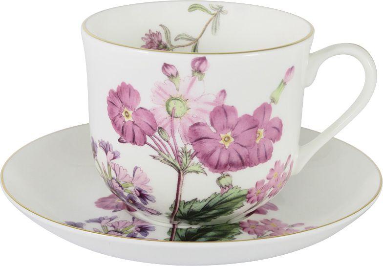 Чайная пара Anna Lafarg Stechcol Лаура, цвет: розовый, 450 мл, 2 предмета чашка с блюдцем anna lafarg stechcol лаура сиреневые цветы al 17821 f bcs st