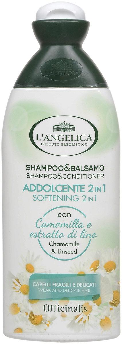 L'angelica (3127) Шампунь 2в1 для частого использования, 250 мл шампунь бальзам чистая линия для частого мытья 2в1 400 мл