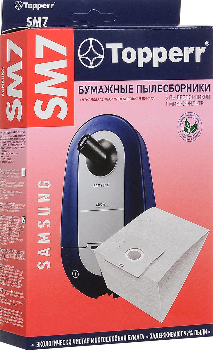 Topperr SM 7 фильтр для пылесосовSamsung, 5 шт цена 2017