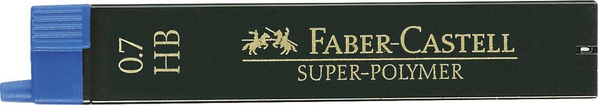 Faber-Castell Грифель для механического карандаша Superpolymer HB 0,7 мм 12 шт графитные грифели superpolymer 0 5мм твердость hb 12шт