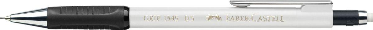 Faber-Castell Карандаш механический Grip 1345 0,5 мм цвет корпуса белый faber castell чернографитовый карандаш triangular цвет корпуса белый черный мотив корова