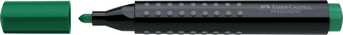 Faber-Castell Маркер перманентный Grip 1504 цвет зеленый faber castell маркер для белой доски grip 4 шт