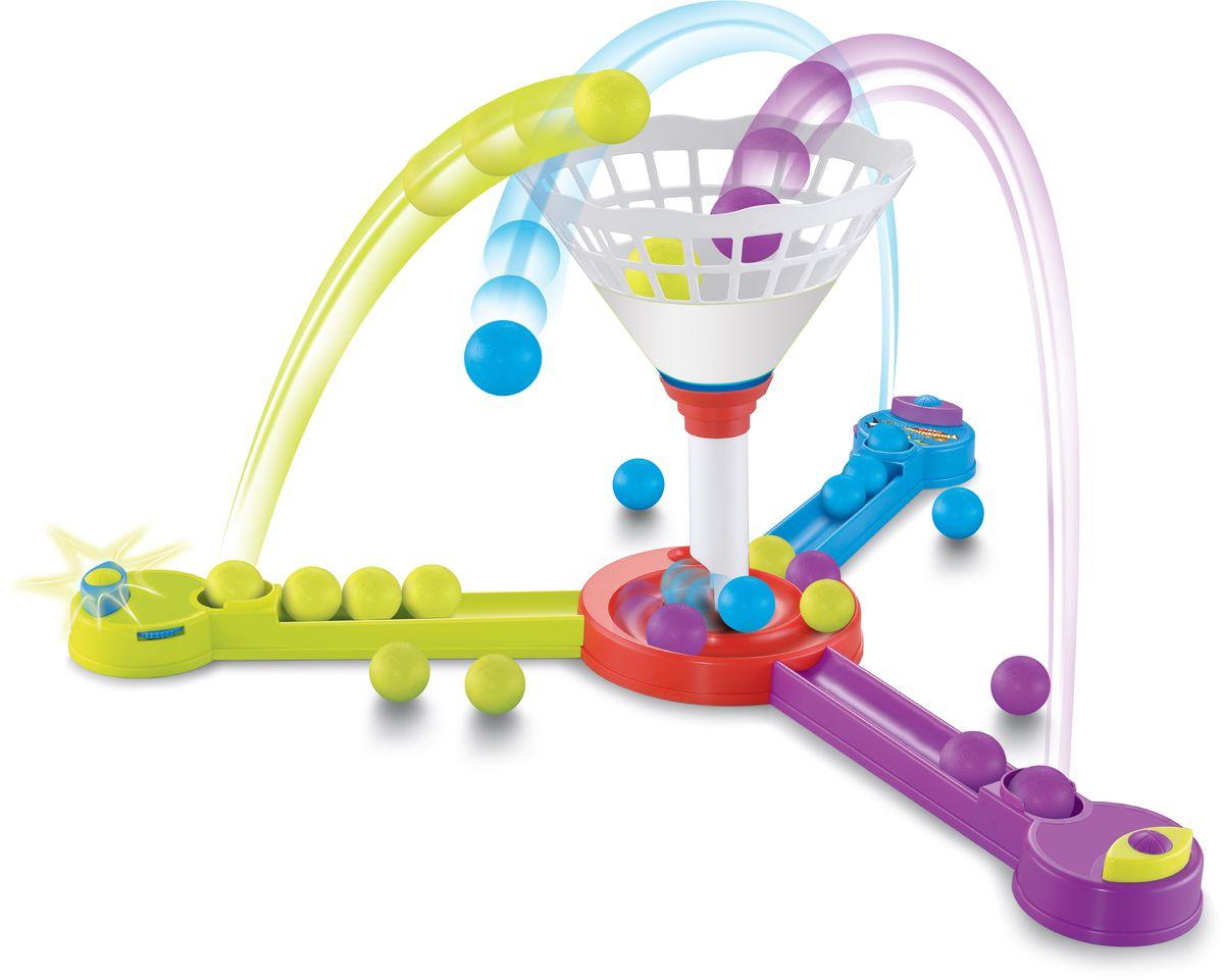 1TOY Настольная игра Игродом Тройной баскетболТ10822С помощью трамплина забрасывайте мячи своего цвета в корзину-конус посередине. Будьте внимательны - мячей всего 5 каждого цвета, а победит самый ловкий!