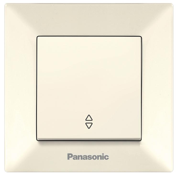 Переключатель Panasonic Arkedia, проходной, одноклавишный, цвет: бежевый, 10 А. 54754/WMTC0003-2BG-RES54754Проходной одноклавишный переключатель Panasonic Arkedia предназначен для включения, отключения или переключения электрических цепей. Выполнен из прочного пластика. Переключатель прост в установке и надежен в эксплуатации. Он станет удачным решением для дома и офиса.